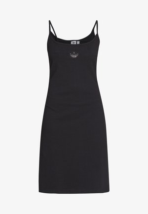 FAKTEN TREFOIL TANK DRESS - Jerseykjoler - black