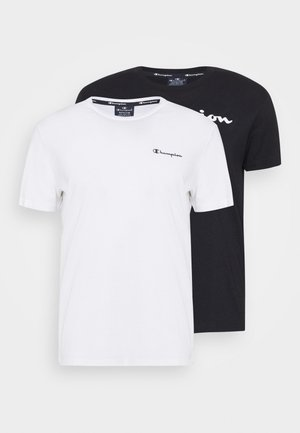 CREW NECK 2 PACK - Print T-shirt - black