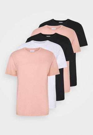 5 PACK - Basic T-shirt - black