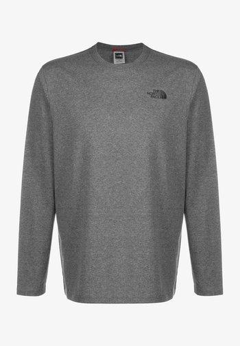 MENS BOX TEE - Long sleeved top - medium grey