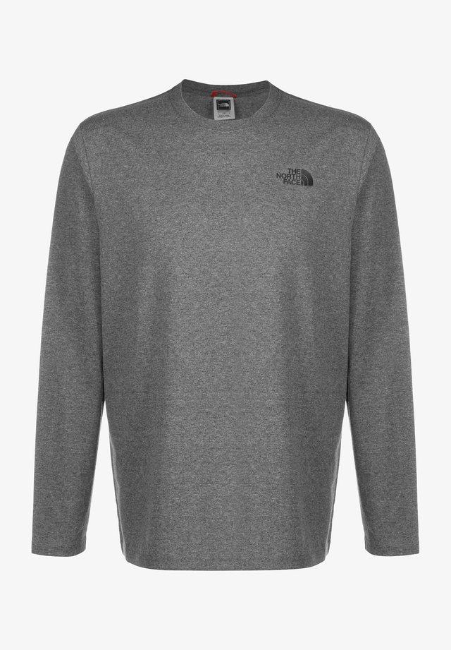 MENS BOX TEE - Langærmede T-shirts - medium grey