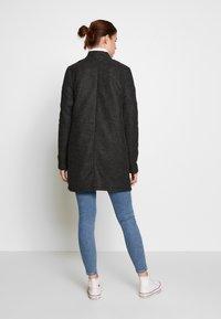 Vero Moda Tall - VMBRUSHEDKATRINE JACKET - Classic coat - dark grey melange - 2
