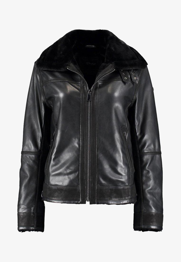 DNR Jackets - Leather jacket - black