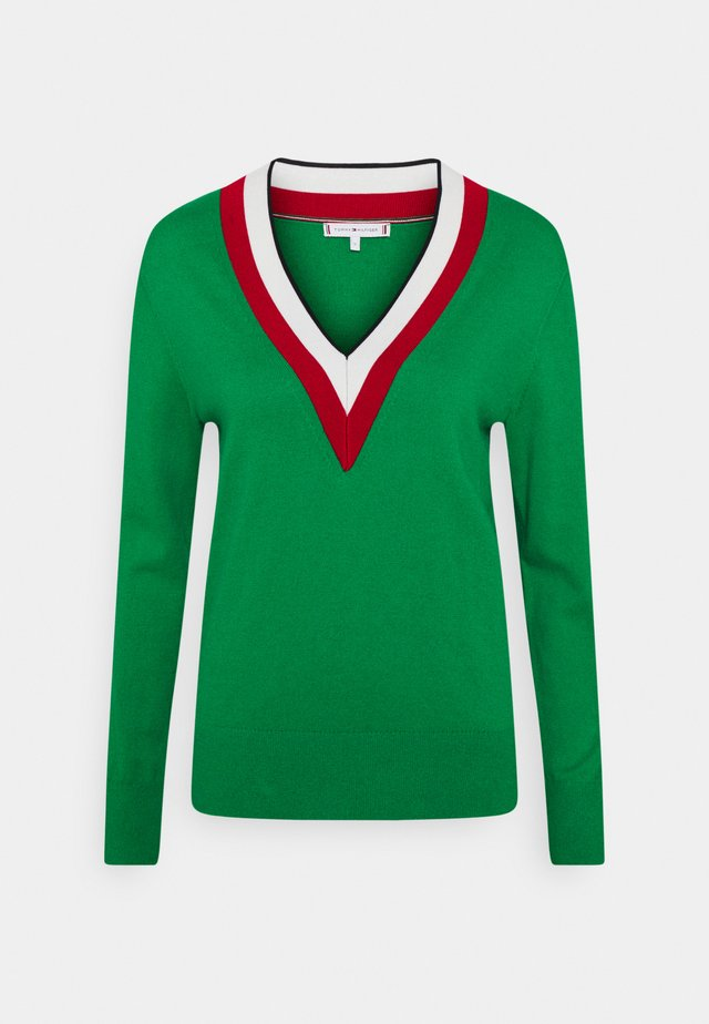 GLOBAL STRIPE - Sweter - primary green
