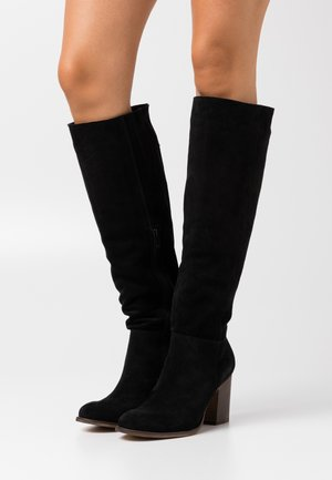 LEATHER - Bottes - black