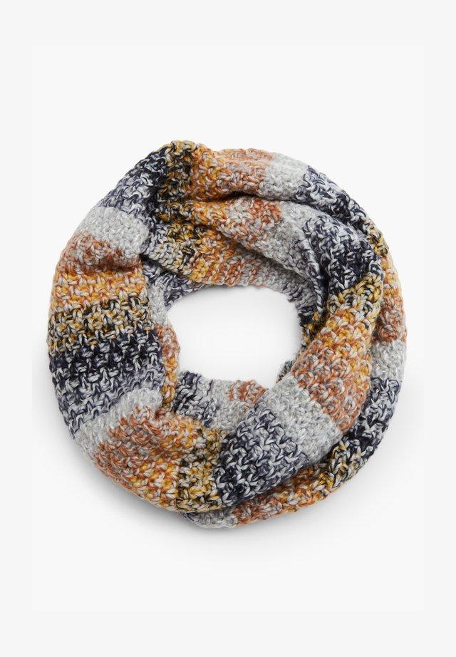 Snood - grey/yellow knit