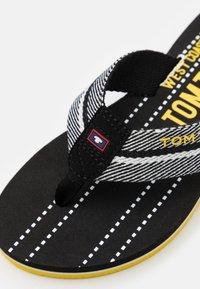 TOM TAILOR - T-bar sandals - black/white/yellow - 5