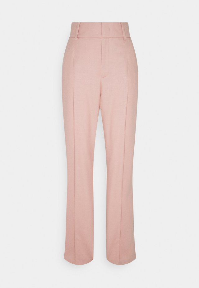 HIGHWAISTED TAPERED PANTS PINTUCK AND PLEATS - Pantalon classique - winter rose