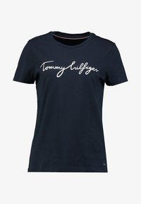 Tommy Hilfiger - HERITAGE CREW NECK GRAPHIC TEE - T-shirt imprimé - midnight - 4
