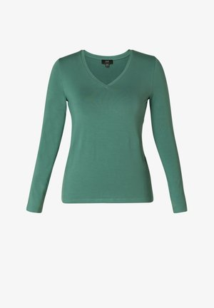 TOPS YARE ESSENTIAL - Long sleeved top - dark jade green