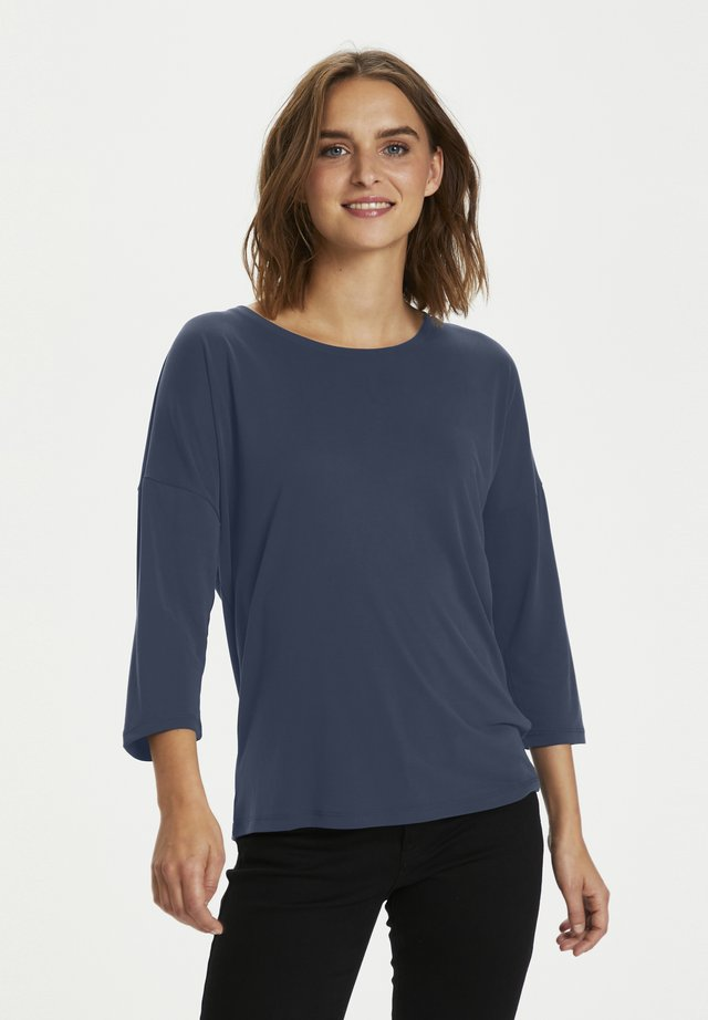 KALINE OVERSIZE FIT - T-shirt à manches longues - midnight marine