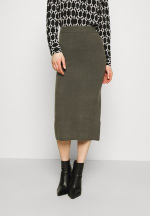 KAIA MIDI SKIRT - Pencil skirt - asphalt grey