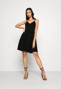 Vero Moda - VMHONEY PLEATED SINGLET DRESS - Day dress - black - 1