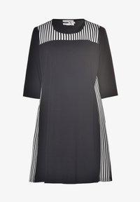 Studio - TINA - Jersey dress - schwarz weiss - 2