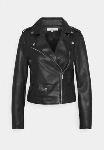 GABY - Faux leather jacket - noir