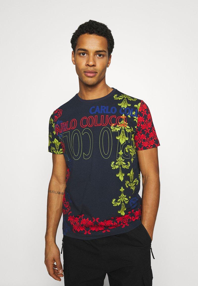 Carlo Colucci - UNISEX - Print T-shirt - navy