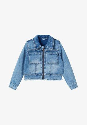 JEANSJACKE REISSVERSCHLUSS SWEAT - Denim jacket - medium blue denim