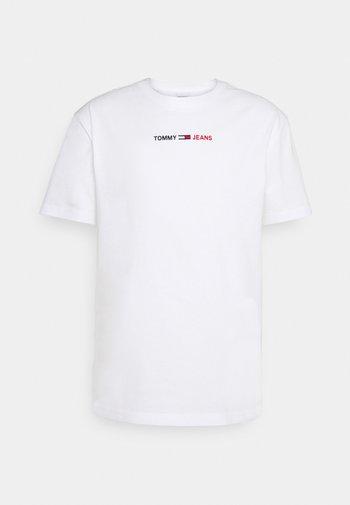 LINEAR LOGO TEE - T-shirt med print - white