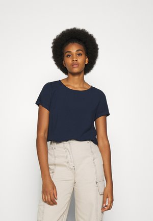 VMNADS FOLD UP BLOUSE - Blouse - navy