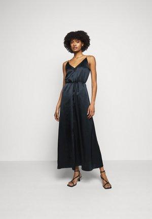 DOUBLE SLIP DRESS - Pouzdrové šaty - navy