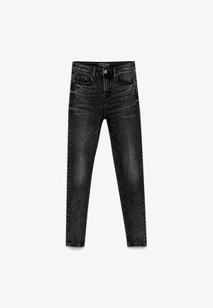 MIT TIEFEM BUND  - Skinny džíny - dark grey