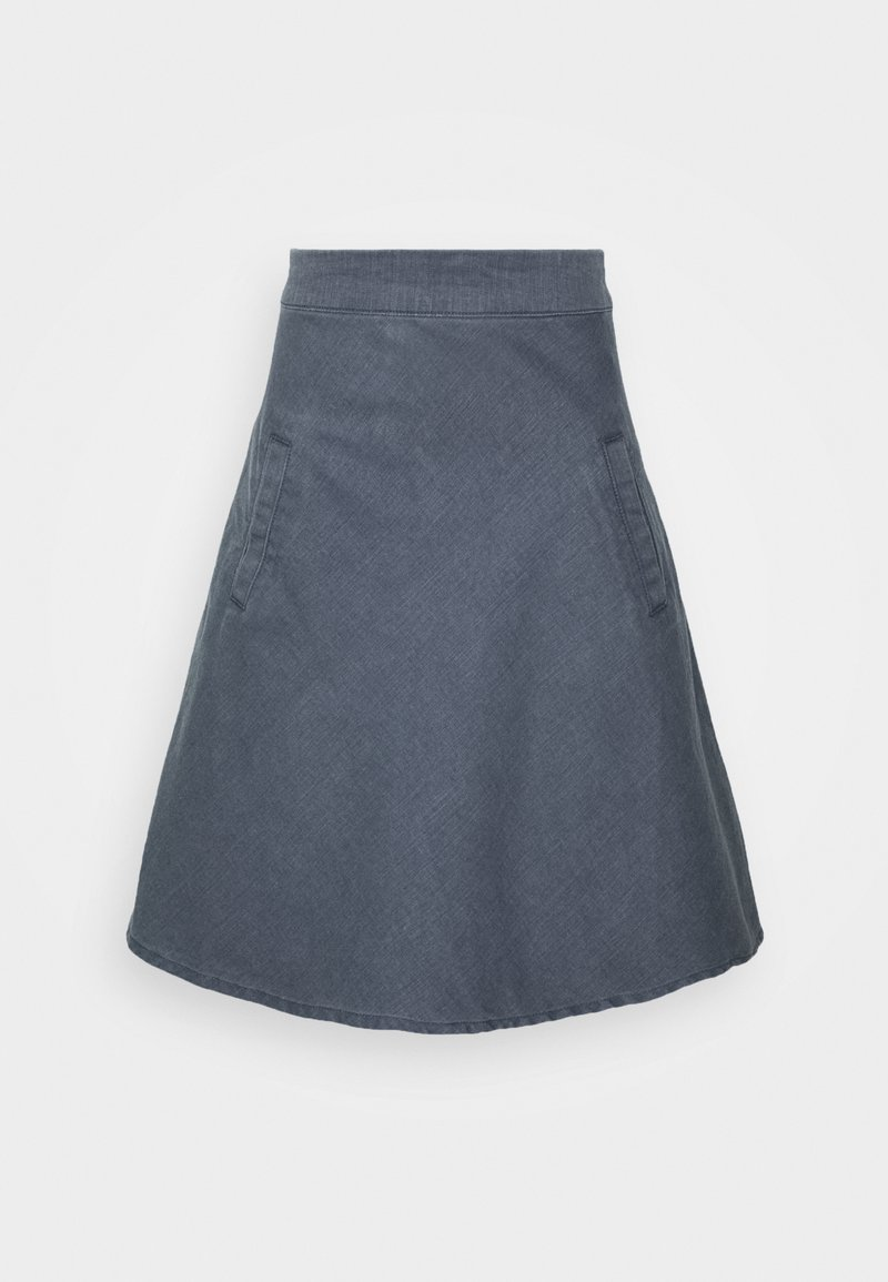 Mads Nørgaard - HEAVY STRETCH STELLY - A-line skirt - grey wash