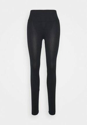 WOMEN LOGO MASON - Leggingsit - black / white