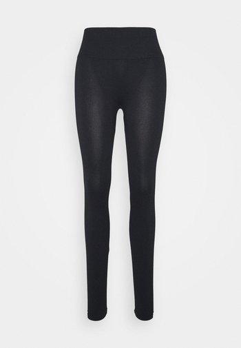 WOMEN LOGO MASON - Leggings - black / white