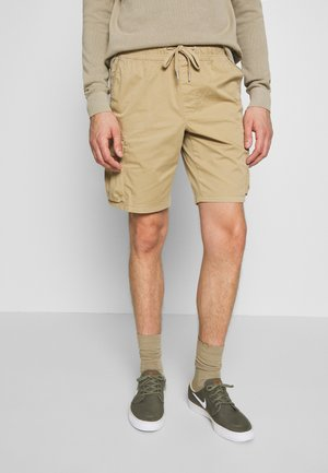 SIMPLE WASHED CARGO - Shorts - travertine