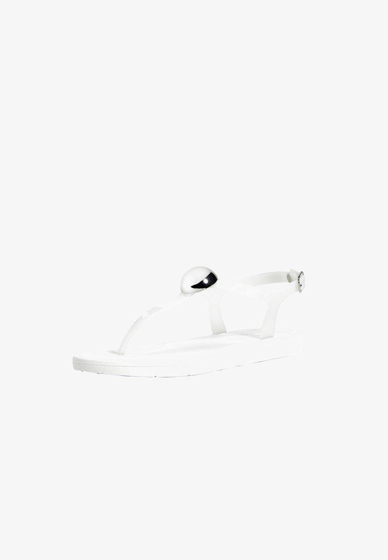 OYSHO - T-bar sandals - white