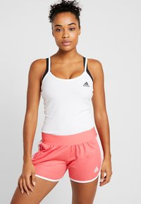 adidas Performance - STRAP TANK - Topper - white/black - 0
