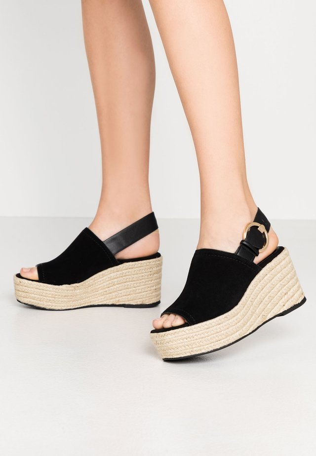 WILD WEDGE - High heeled sandals - black