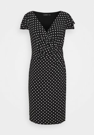 PRINTED MATTE DRESS - Shift dress - black