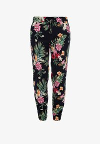 s.Oliver - LEICHTE STOFFHOSE - Leggings - Trousers - navy aop flowers - 1