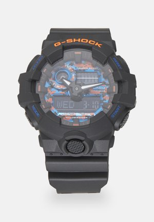 CITY CAMO - Digital watch - black/blue