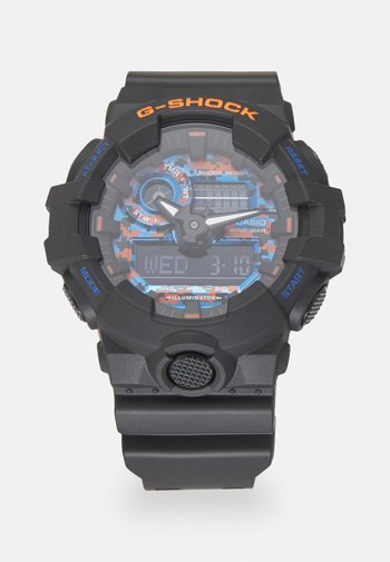 CITY CAMO - Digital watch - black/blue