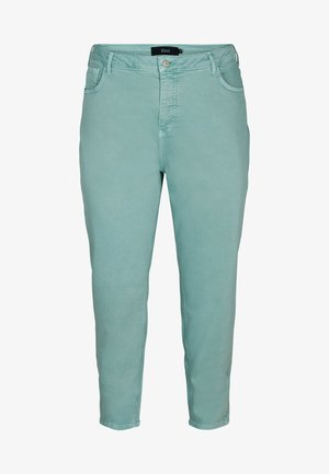 MOM FIT - Relaxed fit jeans - chinois green