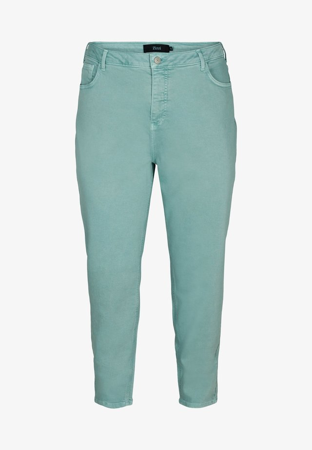 MOM FIT - Jeans baggy - chinois green
