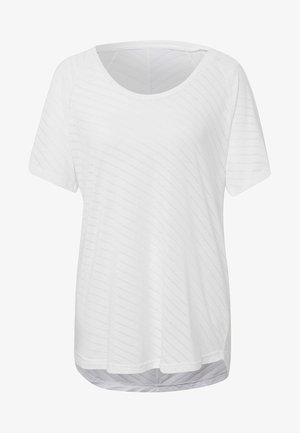 BURNOUT GRAPHIC T-SHIRT - T-shirts med print - white