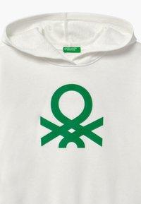 Benetton - BASIC GIRL - Mikina skapucí - white - 2