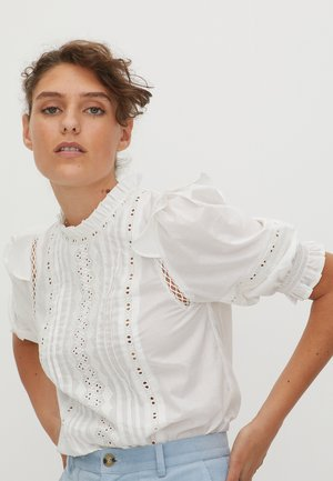 BRODERIE FRILL - Blouse - white