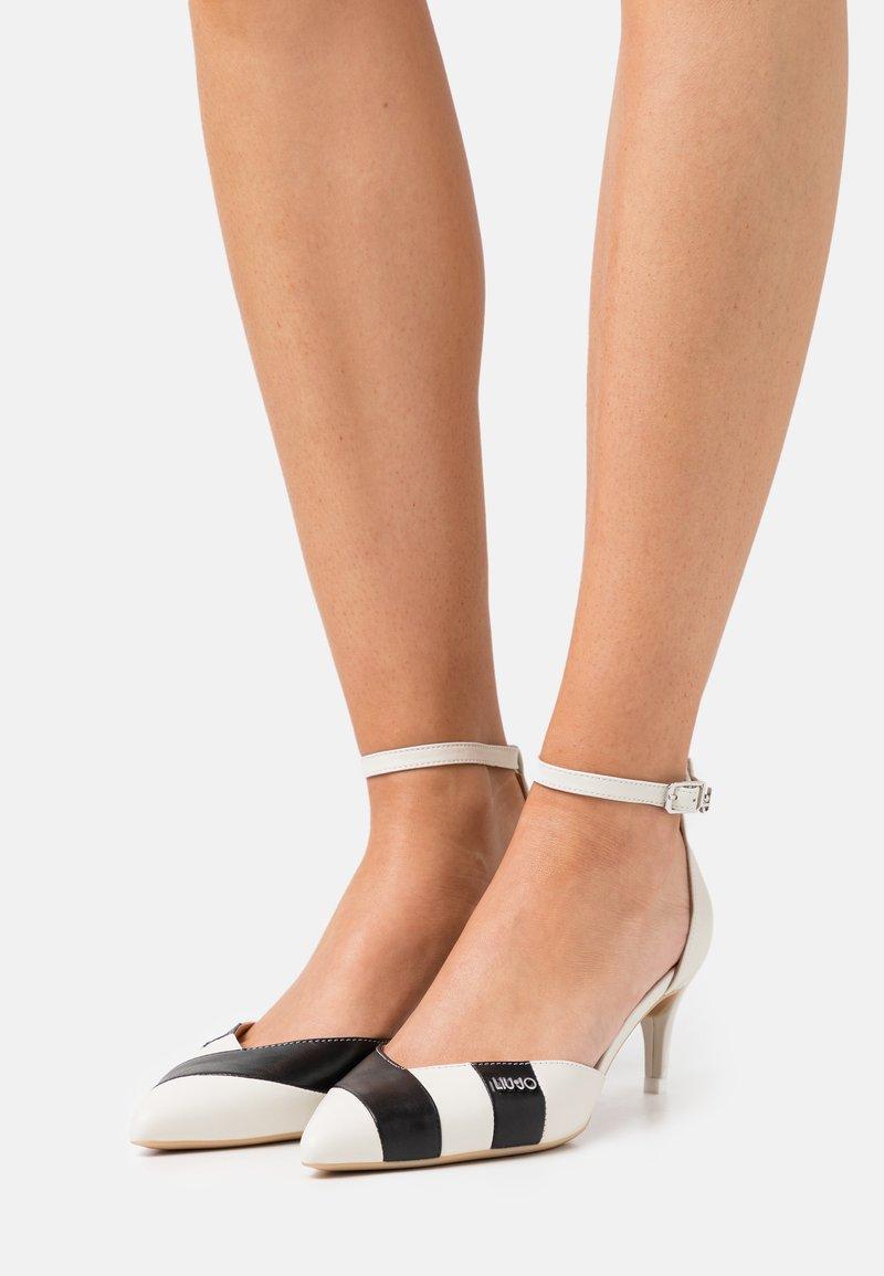 LIU JO - KATIA TWO PIECES - Classic heels - black/white