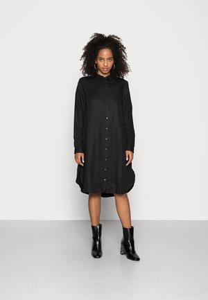 OBJKARLA LONG SHIRT - Robe chemise - black