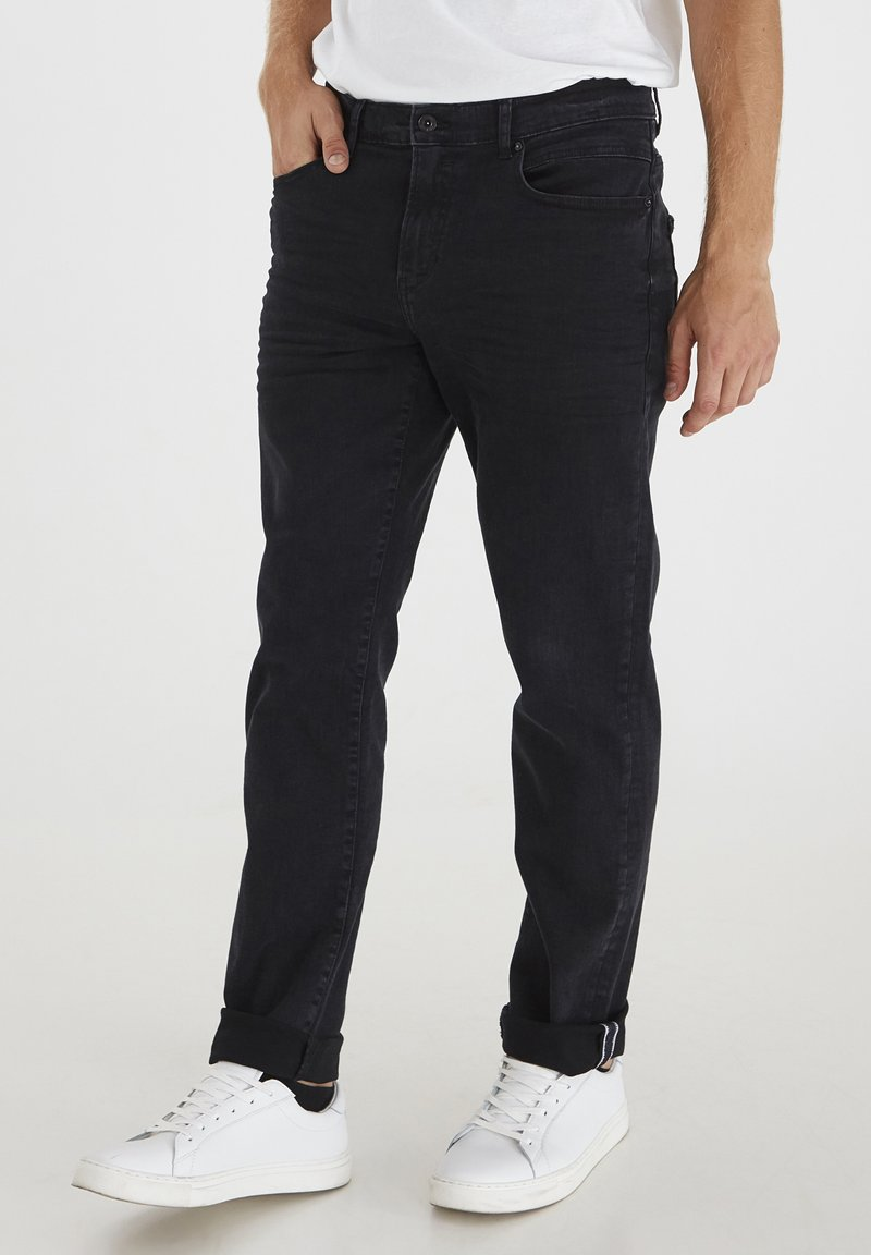 Solid - Jeansy Straight Leg - black