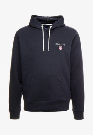 MEDIUM SHIELD HOODIE - Jersey con capucha - black