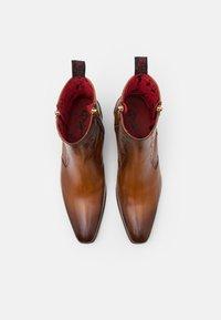 Jeffery West - CARLITO DOUBLE ZIP BOOT - Kovbojské/motorkářské boty - lavato tan - 3