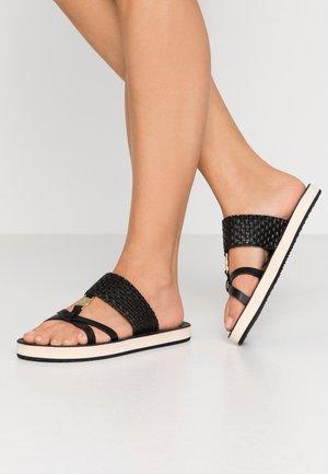 FLATVILLE - Pantofle - black
