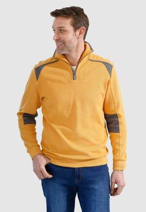 Sweatshirt - gelb,grau