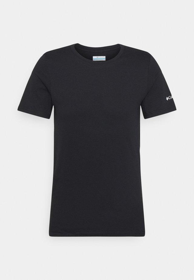 RAPID RIDGE BACK GRAPHIC TEE II - Print T-shirt - black summit seeker