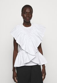 3.1 Phillip Lim - BUTTERFLY RUFFLE SLEEVE TANK - Print T-shirt - offwhite - 0